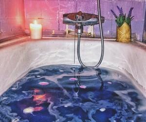 bath, blue, and purple image