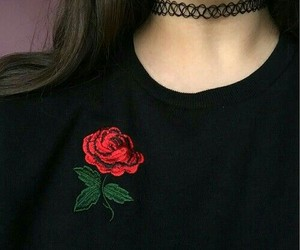 rose, grunge, and black image