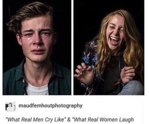 aesthetic, girl laughing, and cry image