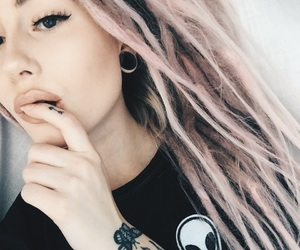 alternative, dreads, and girl image