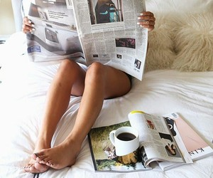 coffee, good morning, and newspaper image