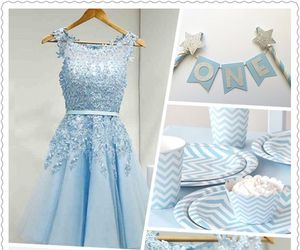 short homecoming dresses, light blue dresses, and dresses 2017: image