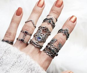 goth, jewelry, and nails image