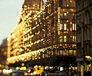 christmas, light, and harrods image