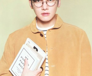 book, oppa, and eye glasses image
