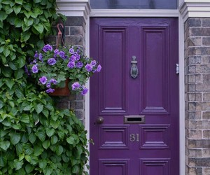 door and purple image