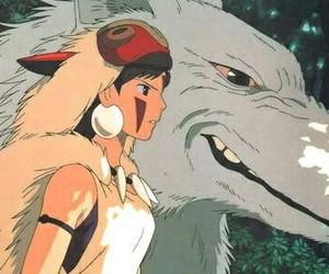 anime, sen, and ashitaka image