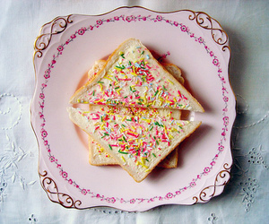 food, toast, and pink image