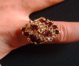 etsy, cubic zirconia ring, and amethyst ring image
