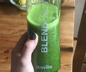 cucumber, baby spinach, and healthy smoothie image