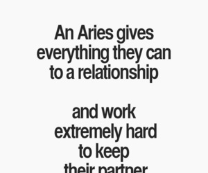 aries, partner, and Relationship image