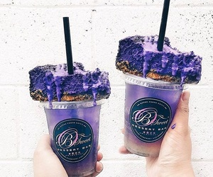 dessert, food, and purple image