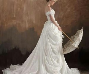 white, dress, and vintage image