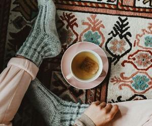 tea, drink, and girl image