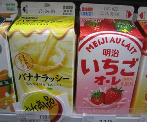 drink, japan, and strawberry image