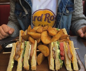 club, hard rock cafe, and food image