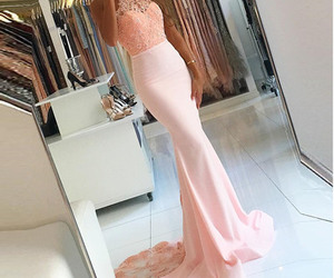evening dress, mermaid, and pink image