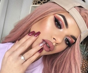 makeup, style, and nails image