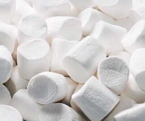 white, marshmallow, and food image