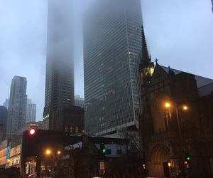 chicago, city, and fog image