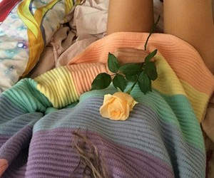 color, flowers, and lesbian image