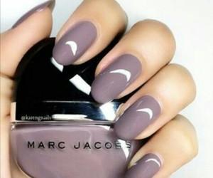 nails, polish, and purple image