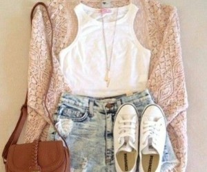 dress, shorts, and shoes image