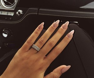 girl, nails, and ring image