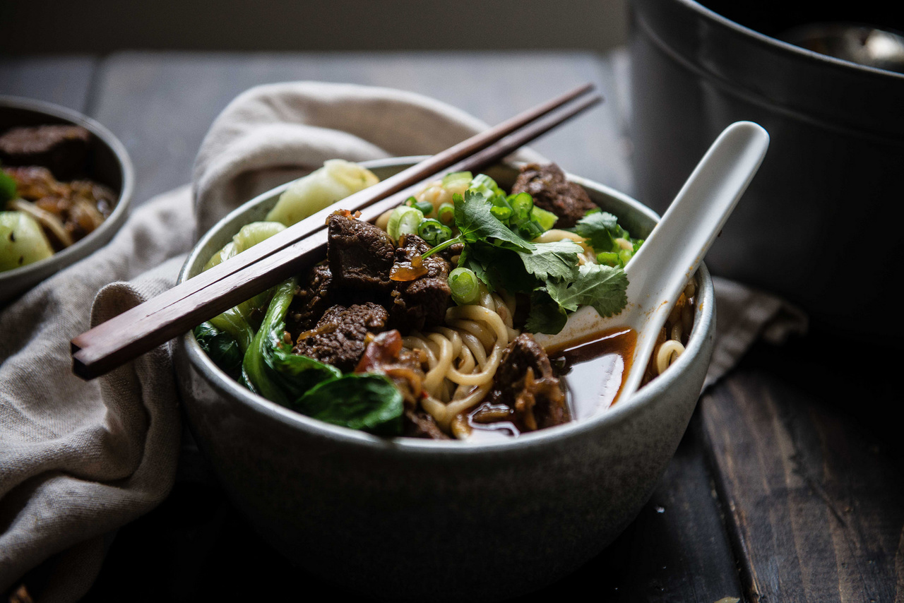 beef, noodles, and spicy image