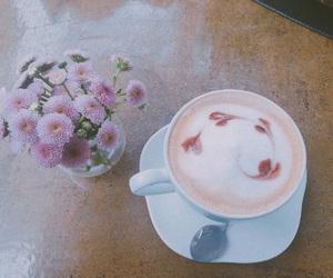 coffee, daisies, and mocha image