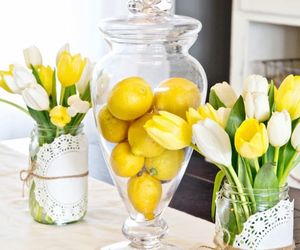 flowers and lemon image