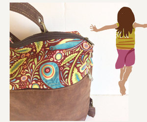 etsy, vegan backpack, and convertible backpack image