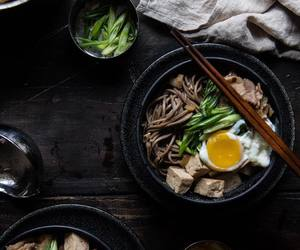 noodles, soba, and soup image