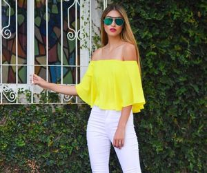 yellow and outfit image