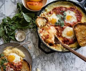 cheese, tomato, and polenta image