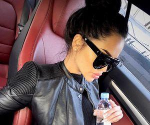 girl, beauty, and sunglasses image