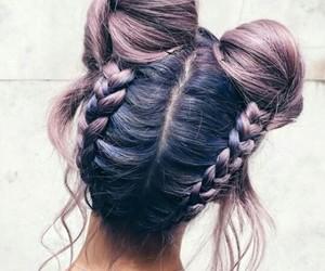 braid, buns, and hair goals image