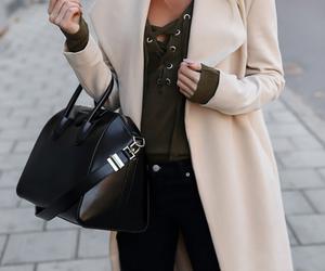 bag, girl, and coat image