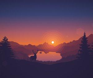 wallpaper, deer, and nature image