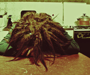 dreads and kitchen image