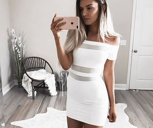 dress, iphone, and white image