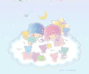 background, sanrio, and blue image