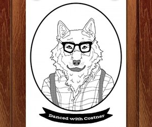 hipster, wildlife, and wolf image