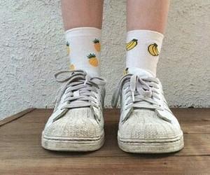 aesthetic, banana, and socks image