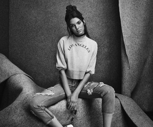black and white, kylie jenner, and model image