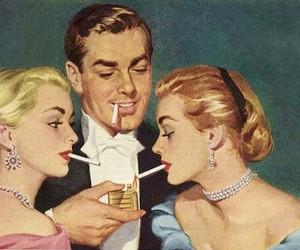 cigarette, art, and smoke image
