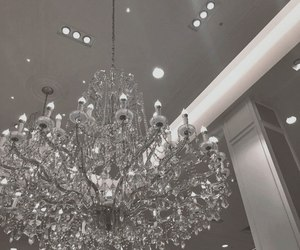ceiling, chandelier, and white image