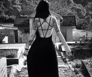girl, gothic, and tattoo image