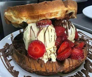 chocolate, nutella, and strawberry image