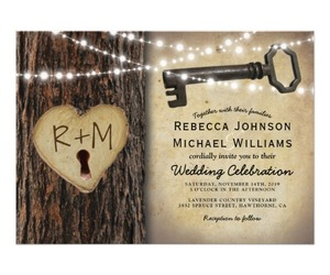 invitations, wedding, and skeleton key image